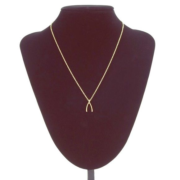 """Gold wishbone necklace Dainty 18k gold plated wishbone necklace. Chain length: 18"""". Jewelry Necklaces"""