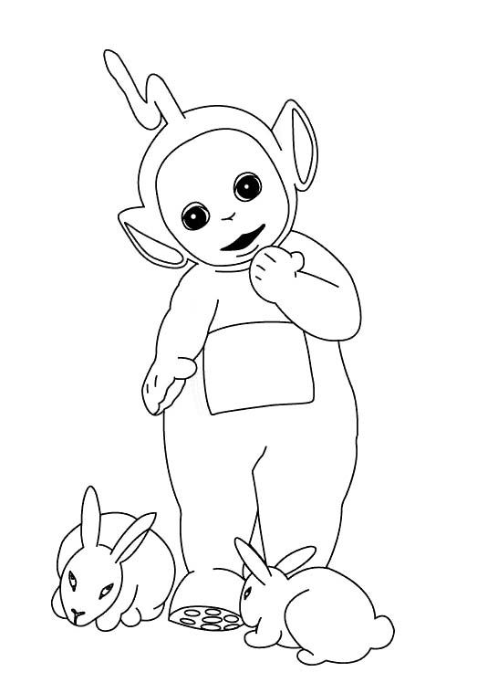 Teletubbies Laalaa Coloring Pages