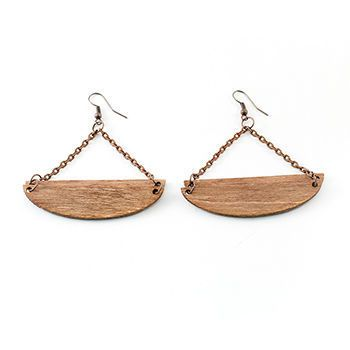 Wooden earrings.  http://shop.yalo.fi/product/2019/boat-earrings