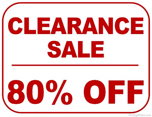 20 best Clearance Signs images on Pinterest | Sale signs ...