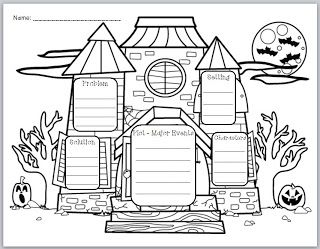 This graphic organizer is a fun way to incorporate Halloween into your literacy lessons