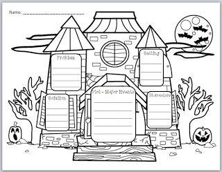 best halloween stories ideas halloween snacks haunted house story elements graphic organizer halloween storieshalloween activitiesspooky halloweenhalloween ideasstory