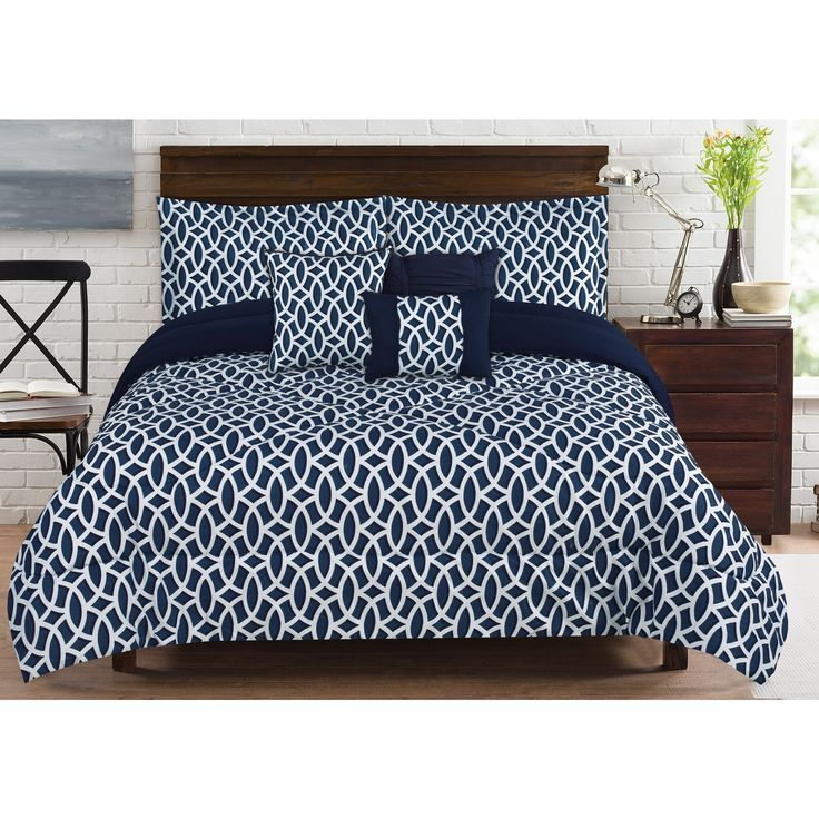 RT Designers Collection Geo 6-Piece King Size Comforter Set
