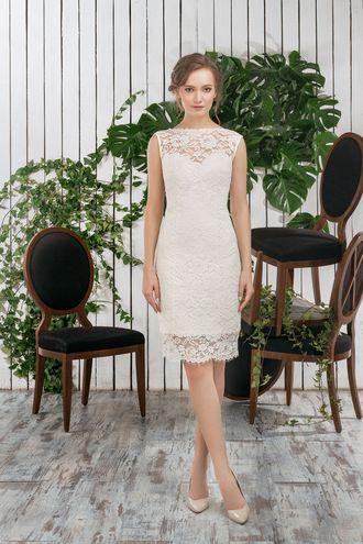 Свадебное платье, платье трансформер, короткое платье, съемная юбка, закрытый верх, wedding dress