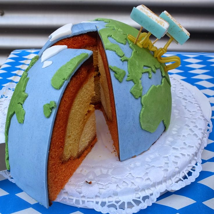 Pâtisserie Nadine: 3D-Strukturkuchen Erde und TerraSAR-X und TanDEM-X...