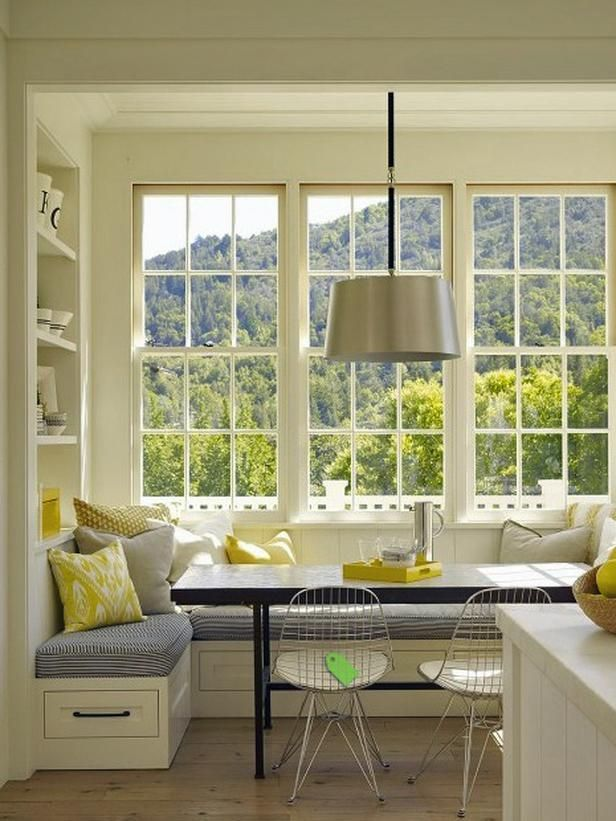 Change your breakfast nook by adding benches!