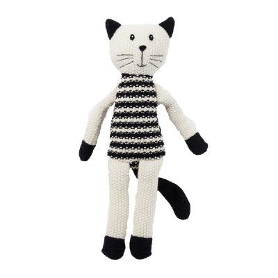 Lily & George have a sweet and fun collection of colourful knit toys that are full of character. They make a lovely friend for any new baby or little one. This large black & white cat features a soft waffle knit and measures 40cm tall