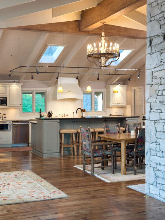 16 best images about kitchen lighting on pinterest wine for Kitchen island track lighting