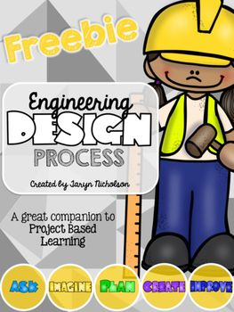 Free interactive flip book to plan out every step of the engineering design process. The flip book has a cover page, definition page, and blank student page for each step: Ask, Imagine, Plan, Create, and Improve.Includes an engineering design process poster.This is created as an accompaniment to my Simple Machines Bundle.