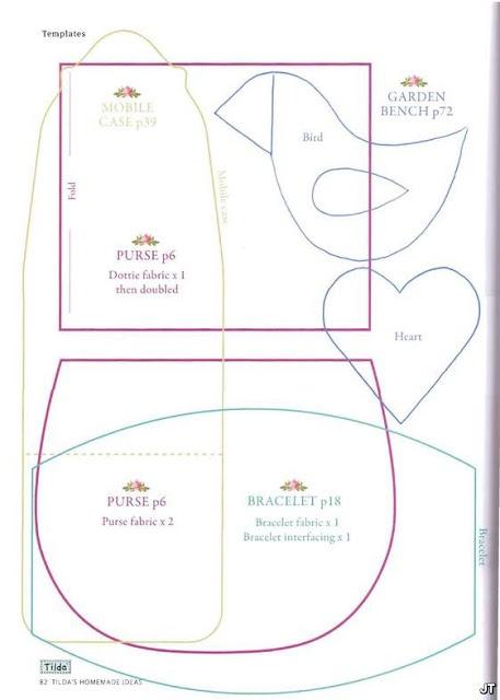 Bellissimi Giocattoli: Classe Master cucire Tilda anno-kit: sacchetti, casi di cellulare e spille
