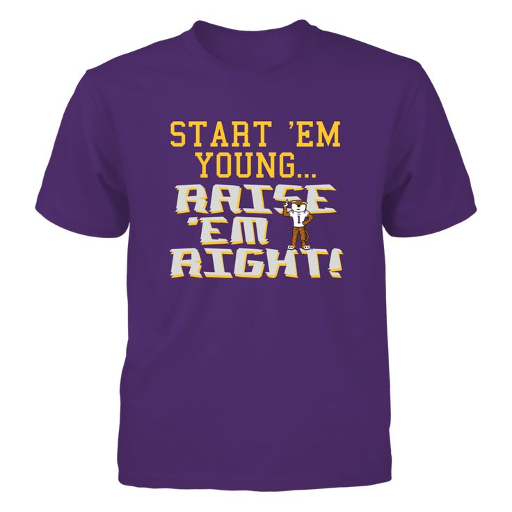 """START 'EM YOUNG... RAISE 'EM RIGHT - LSU TIGERS T-Shirt, OFFICIALLY LICENSED Limited Edition - Not Sold In Stores Check your size by clicking on """"Buy It Now"""". 100% Designed & Printed in the USA!  The LSU Tigers Collection, OFFICIAL MERCHANDISE  Available Products:          Gildan Youth T-Shirt - $24.95 Pack of 4 stickers - $10.00       . Buy now => http://brisktopia.com/4A7r"""