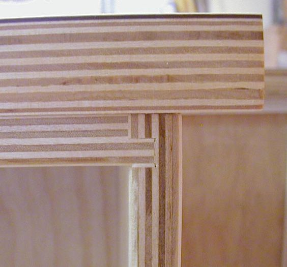 white laminate and exposed finished plywood edges | Plywood + ...
