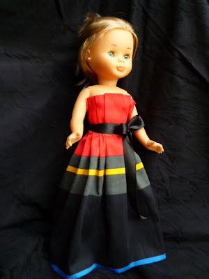 photo tutorial for Nancy doll (adapt for barbie) ANILEGRA COSE PARA NANCY: TUTORIAL PARA HACER UN VESTIDO PARA NANCY, o cualquier otra muñeca SIN PATRÓN