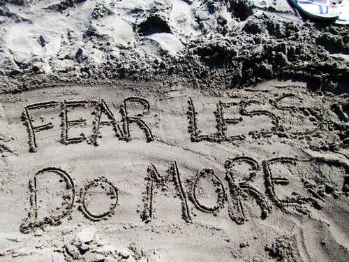 mantra in the sand