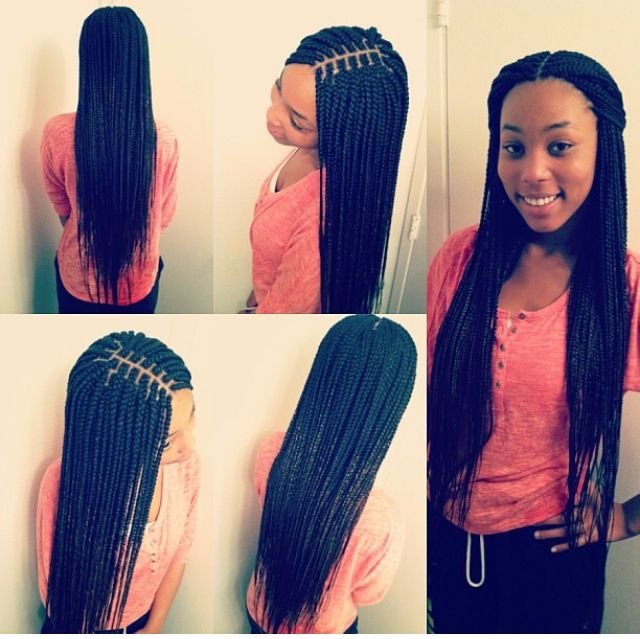 Perfect Long Box Braids. Beautiful.