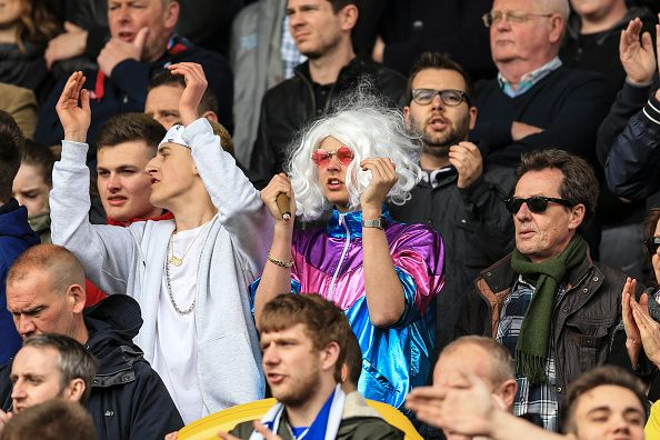 News Photo : Sheffield Wednesday fan dressed as Jimmy Savile...