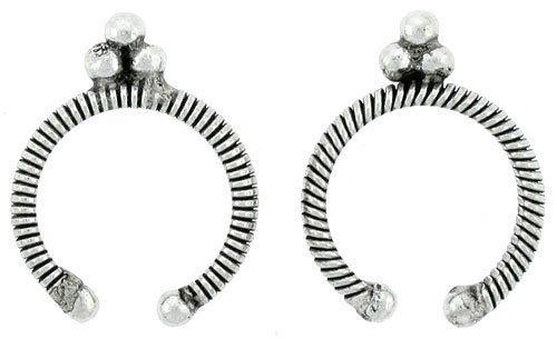 Sterling Silver Bali Design Ear Nose Cuffs 3/4 inch wide