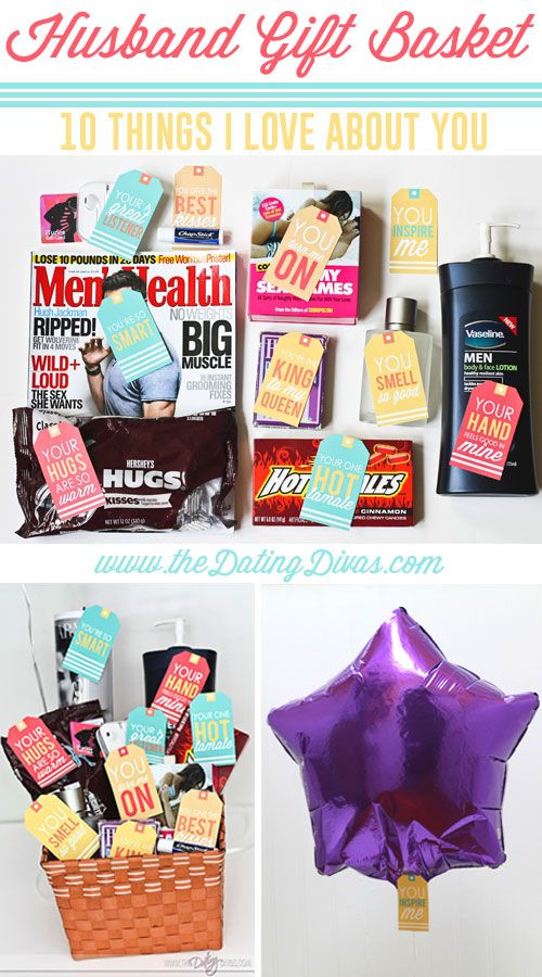 Husband Gift Basket 10 Things I Love About You