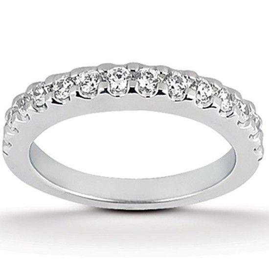 Alliansring 0.70 ct med Diamanter i 14K Vitguld