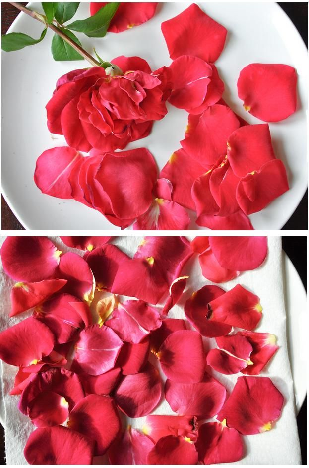 que puedo hacer con petalos de rosas frescos