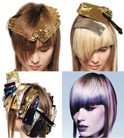 haircut and highlights 13 best foiling techniques images on hair 3372
