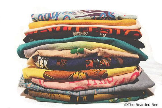 3 SOFT Vintage TShirts 1970s1990s  Mystery Shirts by TheBeardedBee, $22.50