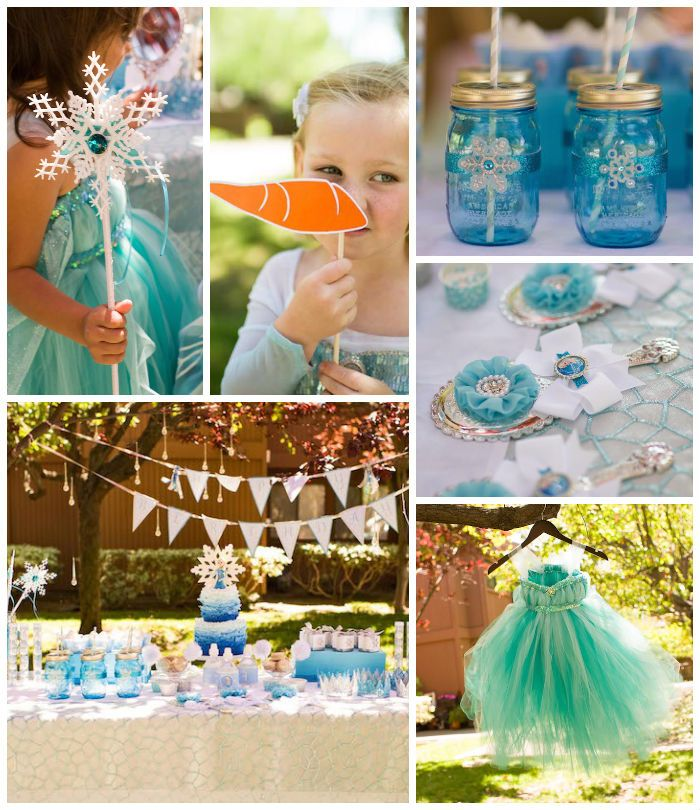 Frozen themed birthday party with Lots of REALLY CUTE IDEAS via Kara's Party Ideas | Cake, decor, printables, recipes, games, and MORE! Kara...