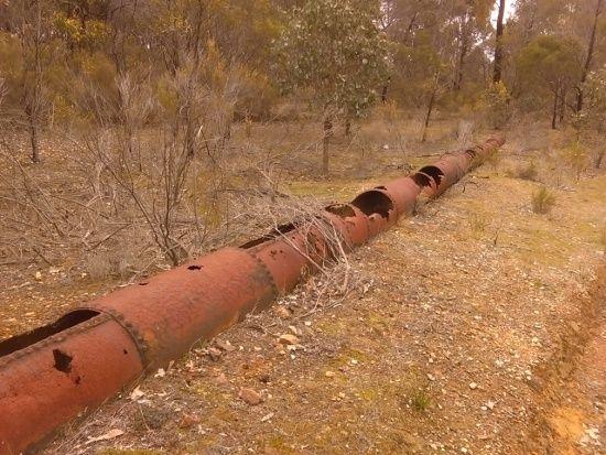 Bendigo Crusoe / No 7 Dams Water Works - Old Pipes