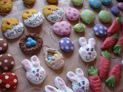 Hippity - Hoppity - Easter's on its Way...so let's get busy making some Easter salt dough ornaments!
