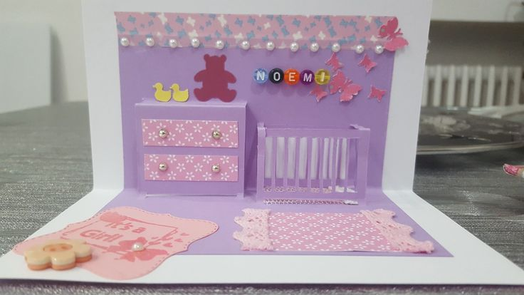 Biglietto realizzato per la nascita della piccola Noemi ❤