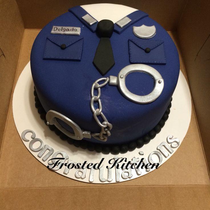 Police academy grad cake - fondant cakes - #Cakes #Fondant #Police academyabsolvent cake