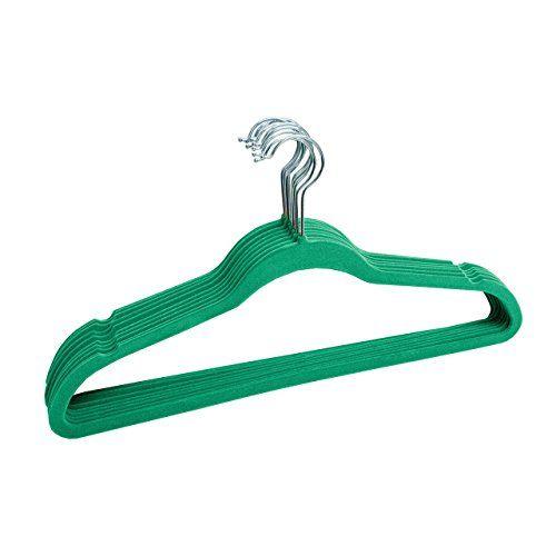 Linen Store Velvet Slim Flocked Hangers 60 Pack - Turquoise