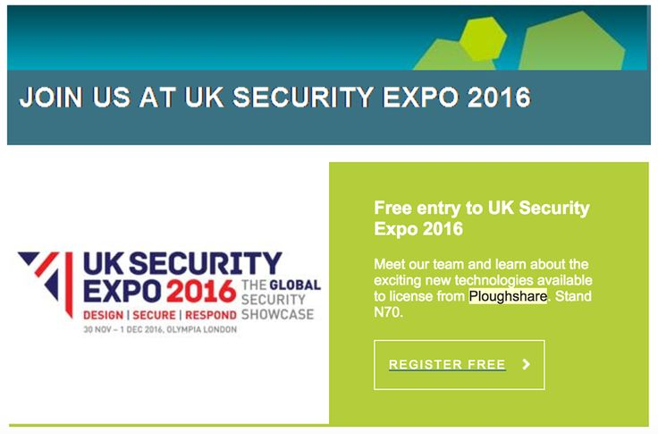 Ploughshare at the UK Security Expo 2016 - Ploughshare
