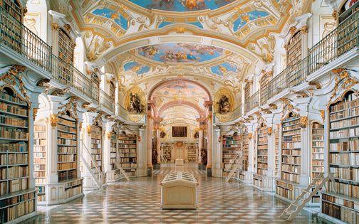 いつか訪れたい海外の美しすぎるおしゃれ図書館20選 バロック建築 図書館建築 西洋建築