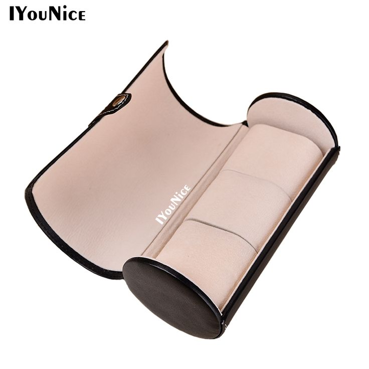 3 Slot Cylindrical Watch Travel Case Faux PU Leather Roll Jewelry Watch Storage Holder Watch box Case Collector Organizer 20x9cm