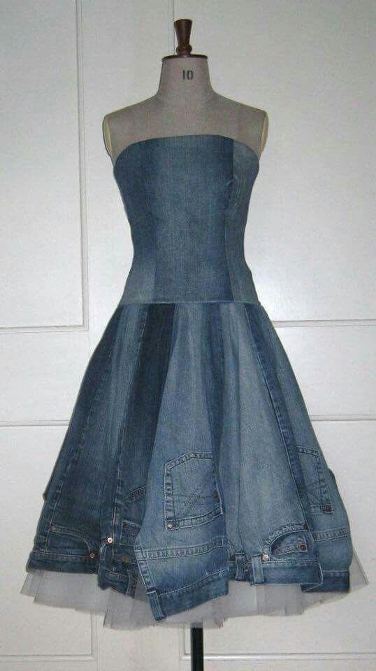 47 Best Images About Blue Jean Dresses On Pinterest