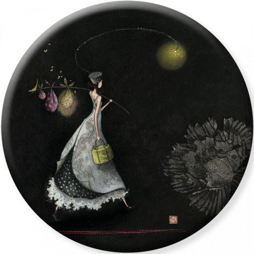 """Gaëlle Boissonnard magnet grand format (88 mm) """"Voyage nocturne"""""""