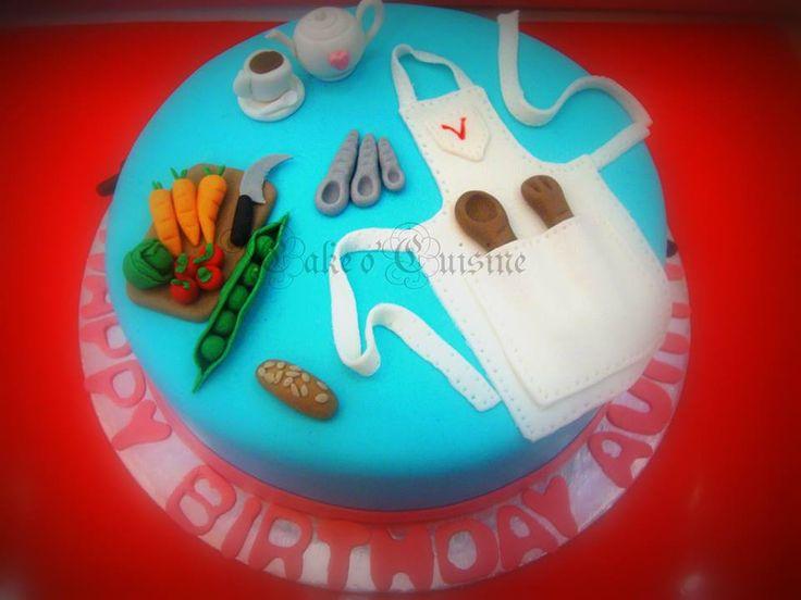 Kitchen themed cake
