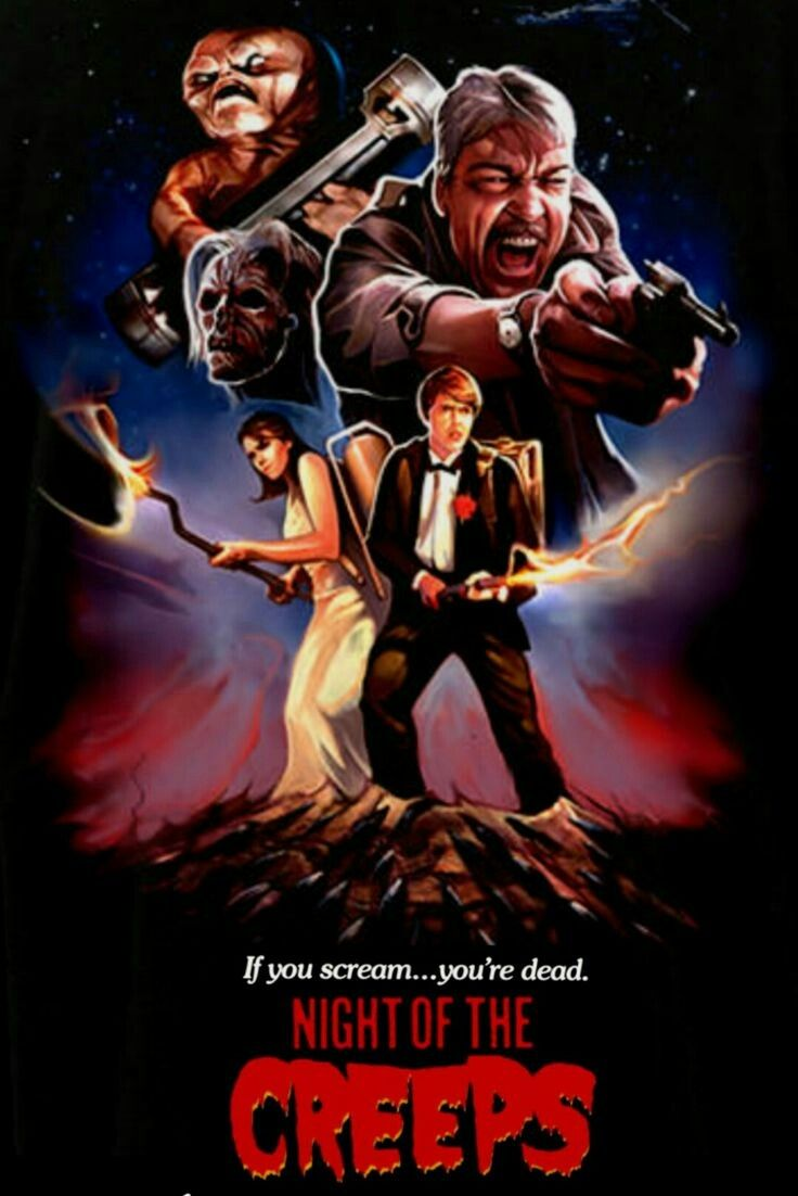Night Of The Creeps Horror Movies Horror Movie Posters