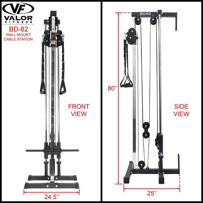 Bd 62 Wall Mount Cable Station In 2020 Home Gym Machine Cable Crossover Machine Cable Machine