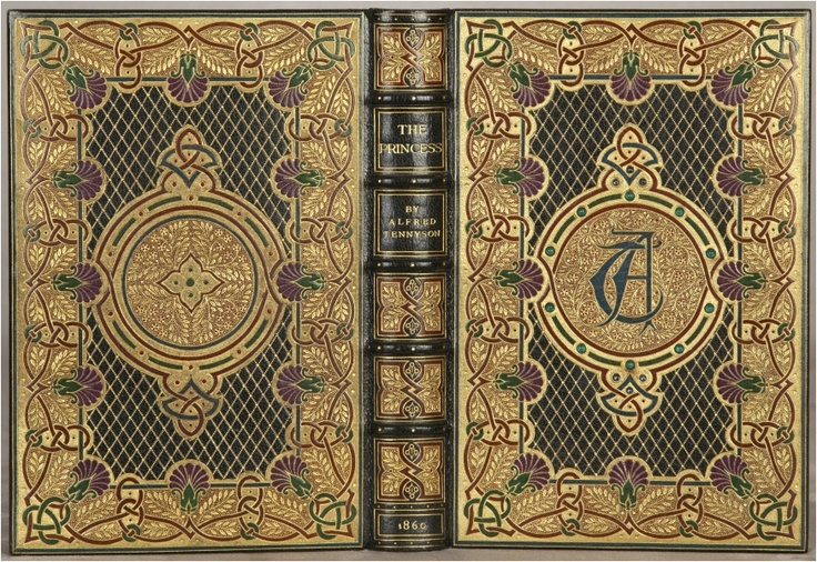 TENNYSON, Alfred. The Princess: A Medley.  London: Edward Moxon and Co., 1860.  Later jeweled binding by Sangorski & Sutcliffe.