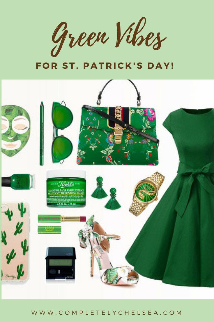 #green n everything for St. Patrick's Day. #stpatricksday #greendress #gucci #robertocavalli #badgleymischka #summeroutfits #green #stpatricks