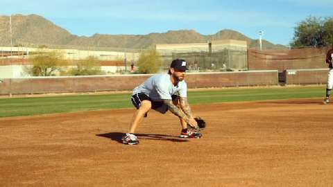 Third Base Fielding Drill With Ryan Roberts