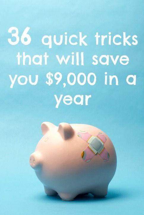 Save $9,000 in a year by using these quick, easy tips and tricks Personal Finance #money