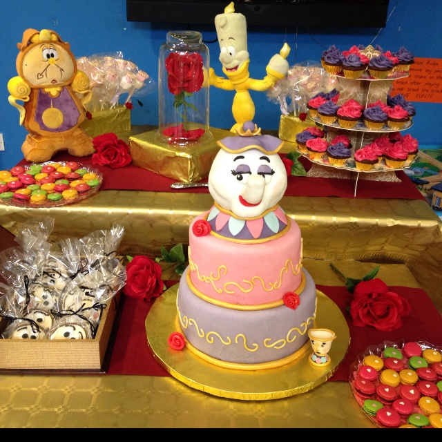 109 best Beauty the Beast Cakes images on Pinterest Disney cakes