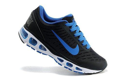 2010 brand 555416-401 air max black blue mens sport running shoes