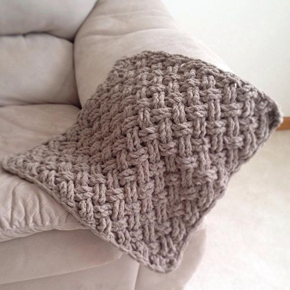 Free Crochet Pattern For Diagonal Baby Blanket : Crochet Pattern for Diagonal Weave Blanket - Any Size ...