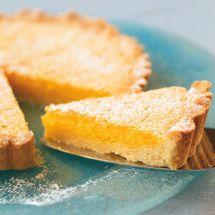 Citrus Lemon Tart (add 1/4 teaspoon of xanthan gum to gluten free flour for base to make it gf)