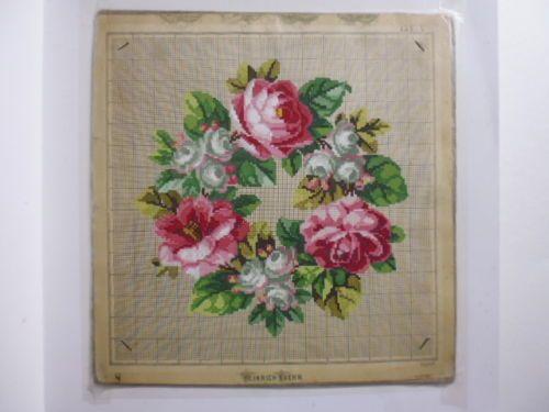 1301-Gouache-Papier-Biedermeier-Stickmuster-Victorian-Needlepoint-19-Jh-ct