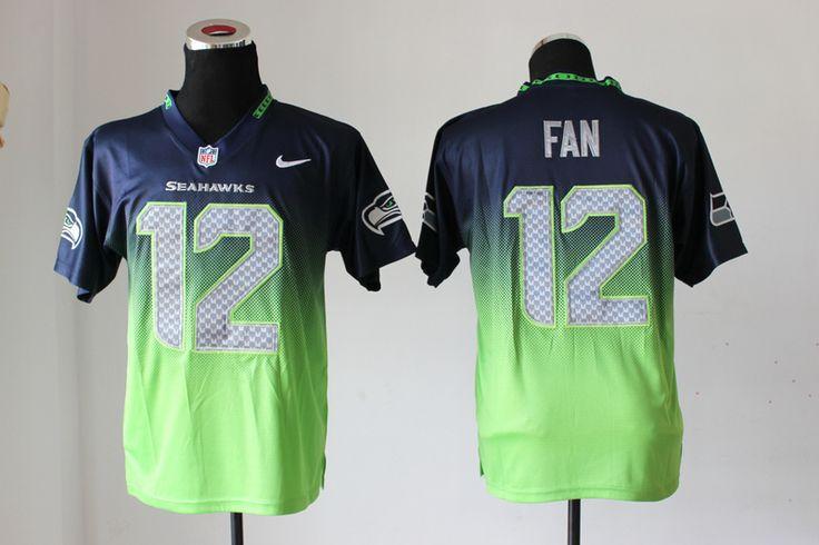 cheap nike seattle seahawks 12 fan drift fashion ii nfl jerseys